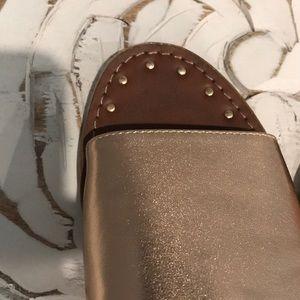 Steve Madden Shoes - STEVE MADDEN Rose Gold Slides